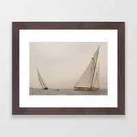 Divergent Sail Framed Art Print