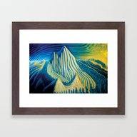 Mt Grohman Framed Art Print
