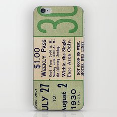 Vintage ticket iPhone & iPod Skin