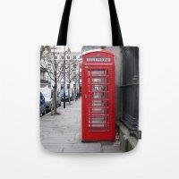 London Phone Booth Tote Bag