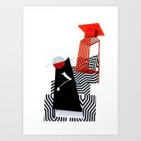 collage love :Monk Art Print