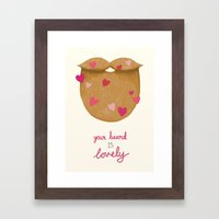 Your Beard Is Lovely Framed Art Print