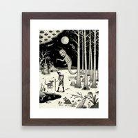 It Followed Him Out Of T… Framed Art Print