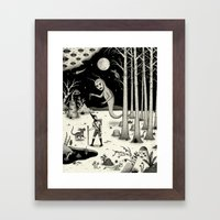 It Followed Him Out Of T… Framed Art Print