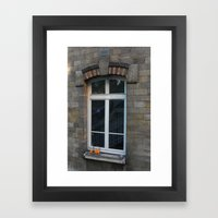 Window With Oranges Framed Art Print