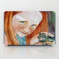 Redhead Green Frog iPad Case
