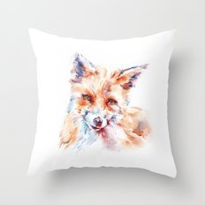 Let me be . . .  Red Fox Throw Pillow