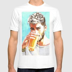 Zayn-Juice Mens Fitted Tee SMALL White