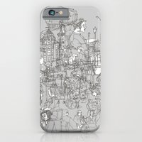 iPhone & iPod Case featuring Interlocking Lives, Lines, and Transit Lanes by Joshua Kemble