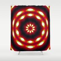 Supermoon Mandala Shower Curtain