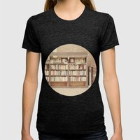Dollar Books Womens Fitted Tee Tri-Black SMALL