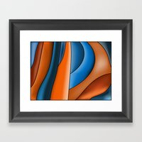 Lines Of Stained Glass Framed Art Print