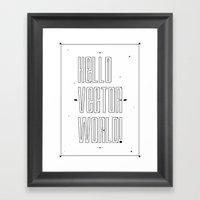 Hello world ! Framed Art Print