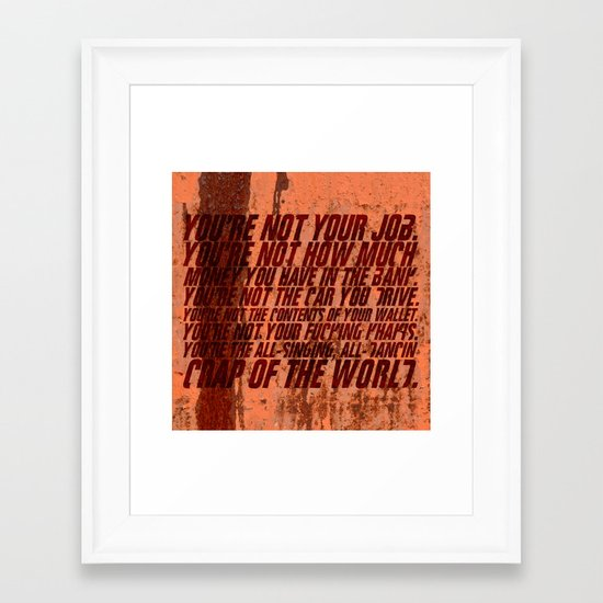 Fight Club Framed Art Print