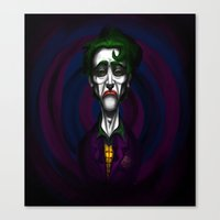 Sad Joker Canvas Print