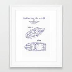 1961 California Boat Framed Art Print