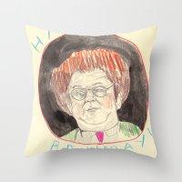 Happy Bruleday Throw Pillow