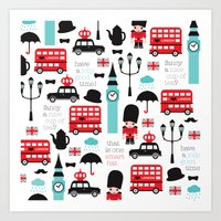 London Icons Illustratio… Art Print