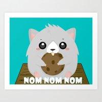 Nom Hamster Art Print