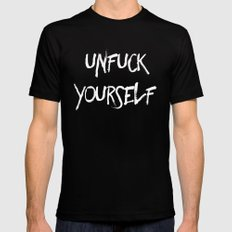 Unfuck yourself inverse edition SMALL Mens Fitted Tee Black