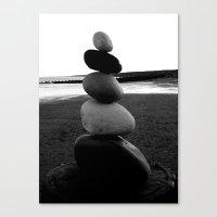 Balancing Rocks On Horns… Canvas Print