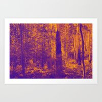 OVER THE RIVER AND INTO THE ABYSS Art Print