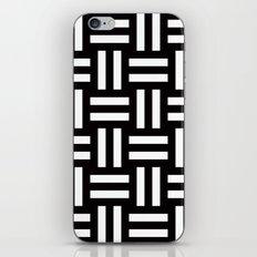 B/W rail fence pattern iPhone & iPod Skin