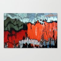 Stained Glass Water Canvas Print