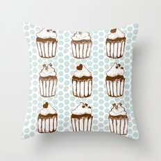Retro Cupcakes Throw Pillow