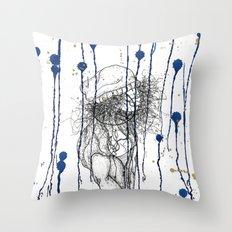 Rain Walker Throw Pillow