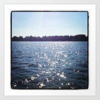 Sparkle Water Color Phot… Art Print