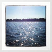 Sparkle Water Color Photography Art Print