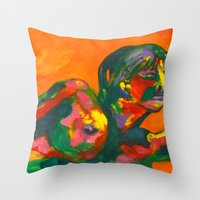 Fauvism Female Throw Pillow