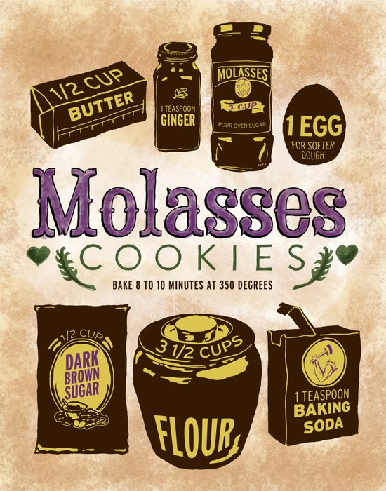 Molasses Cookies Canvas Print