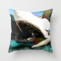 Whale Of A Ride Throw Pillow