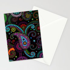Paisley Panels Stationery Cards