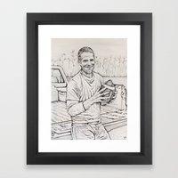 Brett Favre Framed Art Print