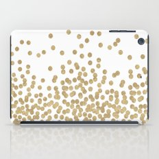Gold Glitter Dots in scattered pattern iPad Case