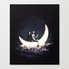Moon Sailing Canvas Print