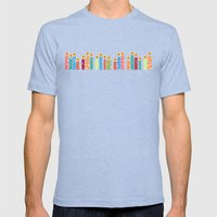 Snowflake Solstice: Be the light Mens Fitted Tee Tri-Blue SMALL