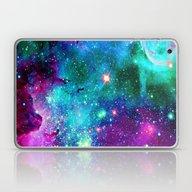 Purple Pink Blue Nebula Laptop & iPad Skin