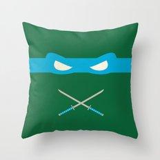 Blue Ninja Turtles Leonardo Throw Pillow