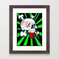 Shanghai Skull Framed Art Print