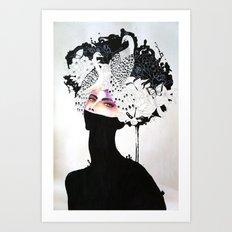 SHINOBI ONNA Art Print