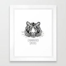 Endangered Species Tiger Framed Art Print