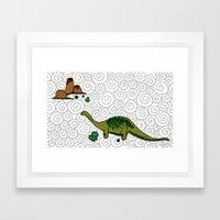 dino saurus Framed Art Print