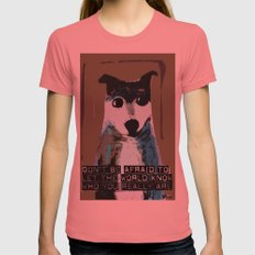Blue Dog Womens Fitted Tee Pomegranate SMALL