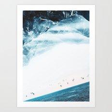 Teal Swim Art Print
