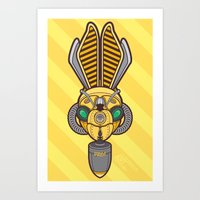 Hornet Gas Mask Art Print
