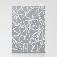 Ab Blocks Grey #2 Stationery Cards